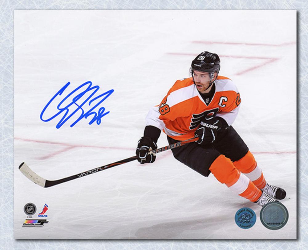 CLAUDE GIROUX Philadelphia Flyers Autographed 8x10 On Ice Action Photo