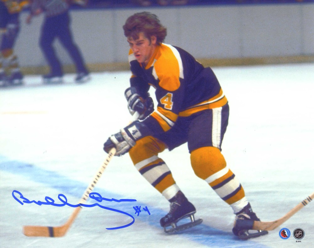 Bobby Orr - Signed 8x10 Bruins Action Dark Jersey
