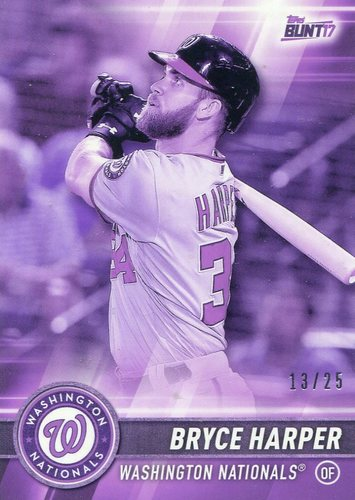 Photo of 2017 Topps Bunt Purple #27 Bryce Harper 13/25