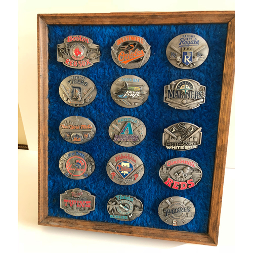 Photo of Major League Baseball Logo Belt Buckles