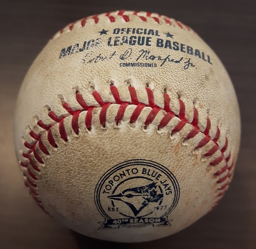 Photo of Authenticated Game Used Baseball - August 24, 2016: Single by Mike Trout against Marco Estrada (Top 4) - MVP Season for Trout