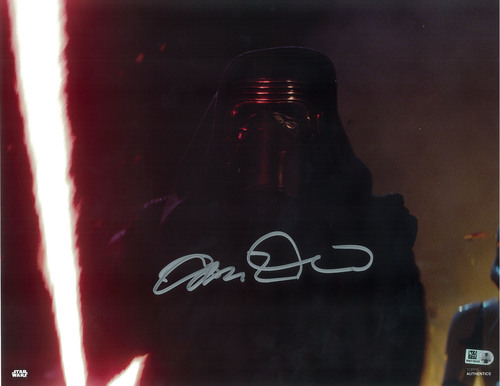 Adam Driver as Kylo Ren 11x14 Autographed in Silver Ink Photo