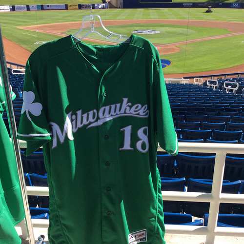 Photo of Eric Sogard 2018 Team-Issued St. Patrick's Day Jersey