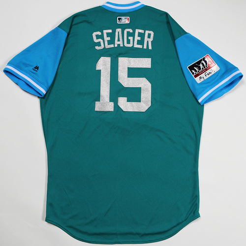 "Photo of Kyle ""Seager"" Seager Seattle Mariners Game-Used Players' Weekend Jersey"
