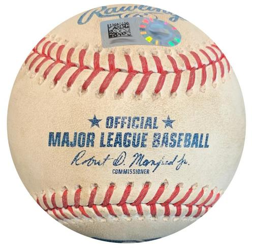 Photo of Game-Used Baseball from Pirates vs. Dodgers on 6/5/18 - Taylor K, Muncy Foul