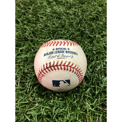 Photo of 20th Anniversary Game Used Baseball: Joey Wendle RBI single off Jake Odorizzi - 100th Career Hit - July 13, 2018 at MIN
