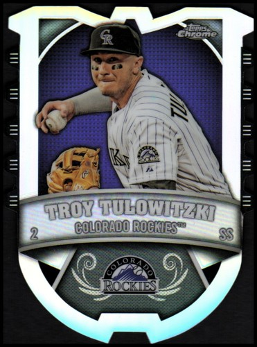 Photo of 2014 Topps Chrome Chrome Connections Die Cuts #CCTT Troy Tulowitzki