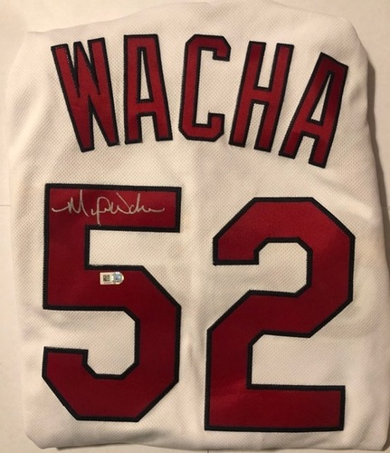 Photo of Michael Wacha Autographed Cardinals Authentic Jersey