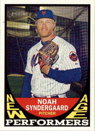 Photo of 2016 Topps Heritage New Age Performers #NAPNS Noah Syndergaard