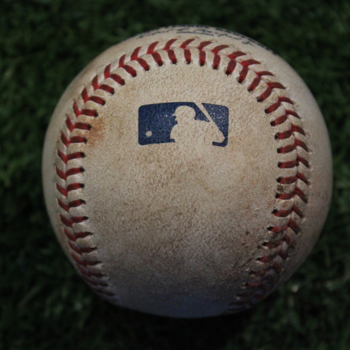 Photo of Game-Used Baseball: Jorge Soler 387th Career Hit - Pitched by Zack Greinke (9/14/19 - HOU @ KC)