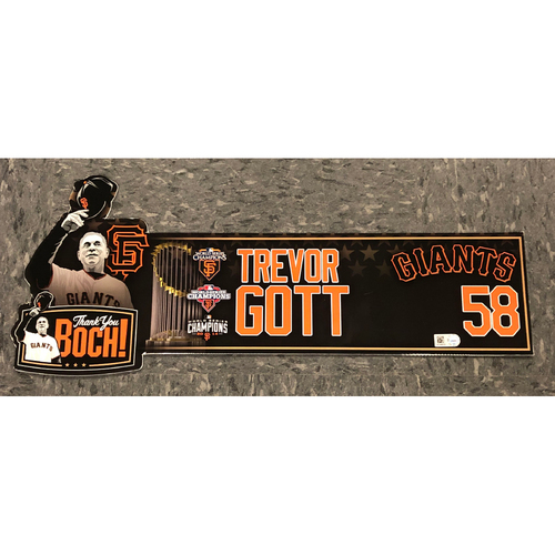 "Photo of 2019 Team Issued ""Thank You BOCH!"" Locker Tag - #58 Trevor Gott"