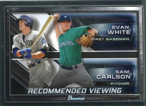 Photo of 2017 Bowman Chrome Draft Recommended Viewing #RVSEA Evan White/Sam Carlson