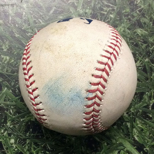 Photo of Game Used Baseball MIL@CHC 09/08/17 - Ryan Braun's 300th Career HR Game