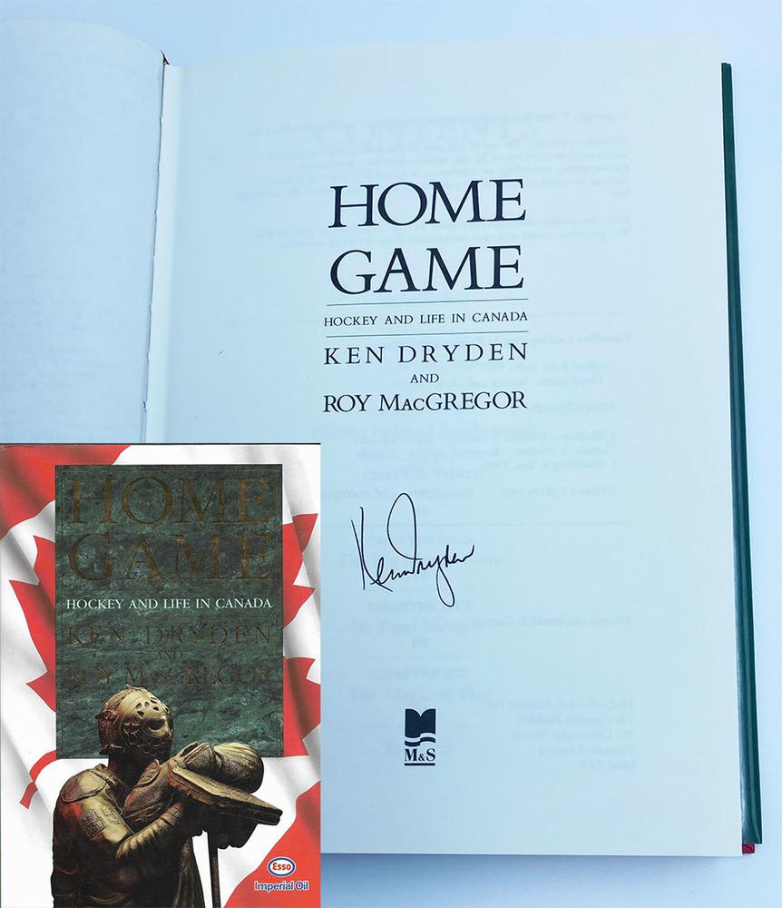 Ken Dryden Autographed Hardcover Book - Home Game