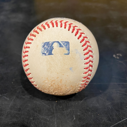 Photo of 2021 Game Used Baseball used on 4/28 vs. COL - B-5: Ben Bowden to Evan Longoria - Single to LF