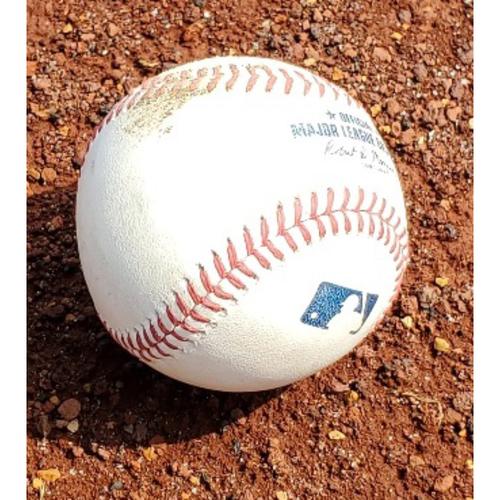 Photo of 2021 Phillies Game-Used Baseball - Aaron Nola Single
