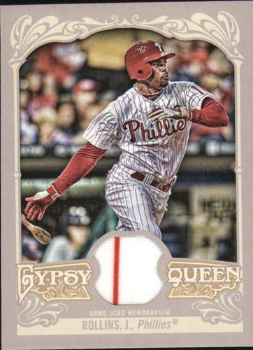 Photo of 2012 Topps Gypsy Queen Relics #JRO Jimmy Rollins