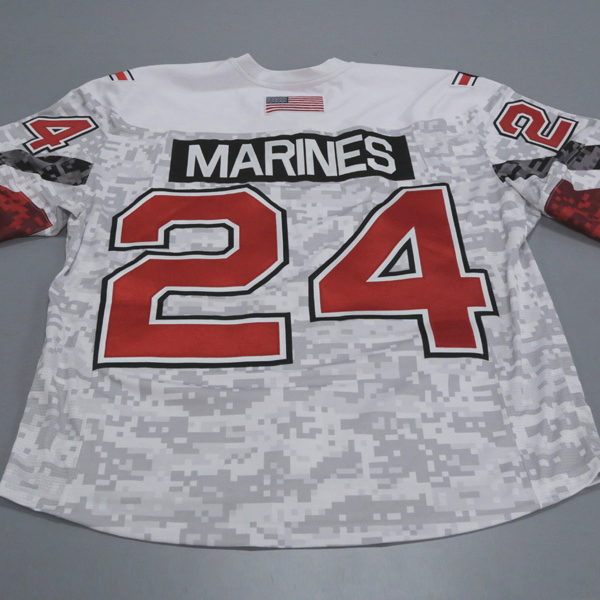 "Photo of Ohio State Ice Hockey Military Appreciation Jersey #24 ""MARINES"" / Size 56"