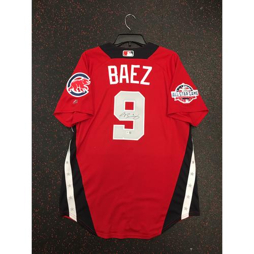 Photo of Javier Baez 2018 Major League Baseball Workout Day Autographed Jersey
