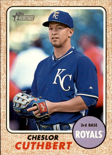 Photo of 2017 Topps Heritage #132 Cheslor Cuthbert RC