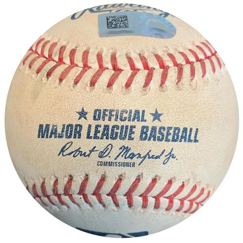 Photo of Game-Used Baseball from Pirates vs. Dodgers on 6/7/18 - Ball in Dirt to Yasmani Grandal