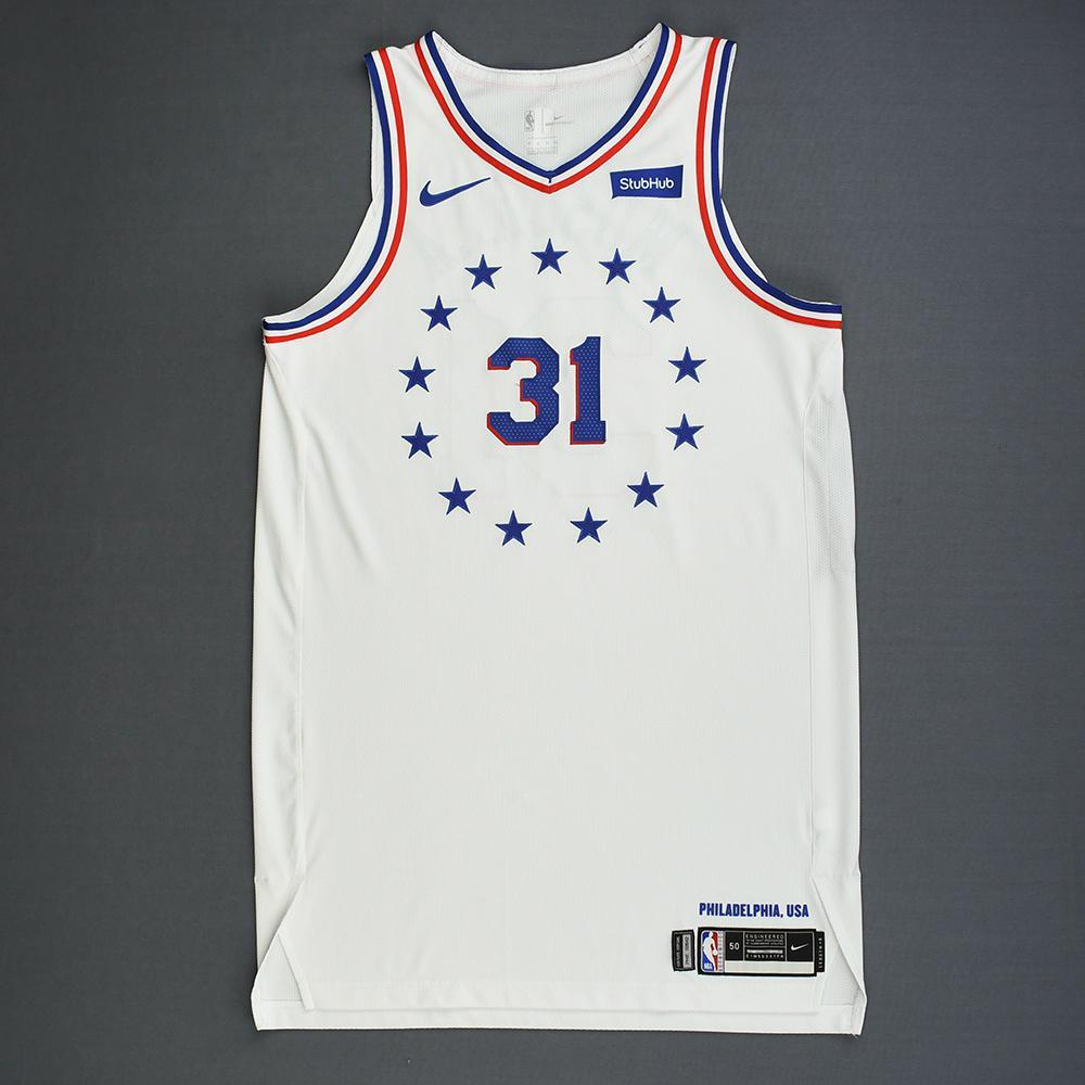 Mike Muscala - Philadelphia 76ers - Christmas Day' 18 - Game-Worn Earned City Edition Jersey