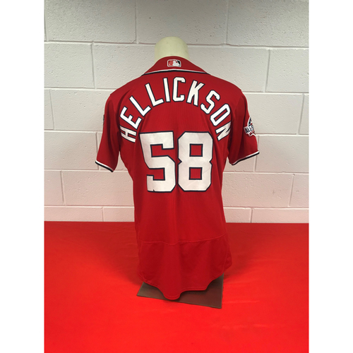 Photo of Jeremy Hellickson Game-Used Washington Nationals 2018 Red Jersey with All-Star Game Patch