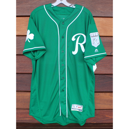 Photo of Team-Issued St. Patrick's Day Jersey: Blake Perkins (Size - 46)