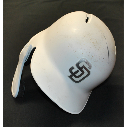 "Photo of Eric ""PAPO"" Hosmer San Diego Padres Game-Used 2019 Players' Weekend Helmet"
