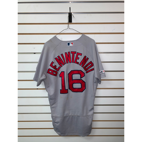 Photo of Andrew Benintendi Game Used July 6, 2019 Road Jersey - 4 for 6