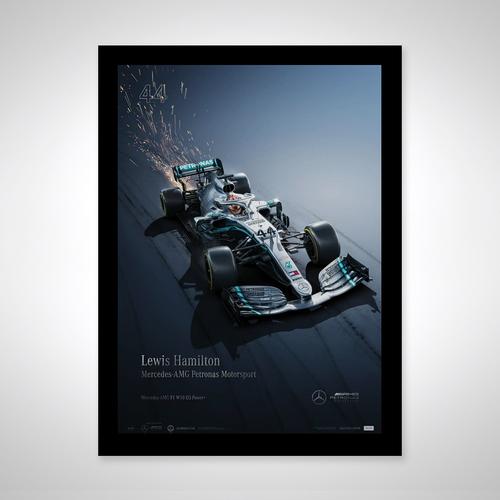 Photo of Lewis Hamilton - Collector's Edition Poster- Mercedes-AMG Petronas Motorsport