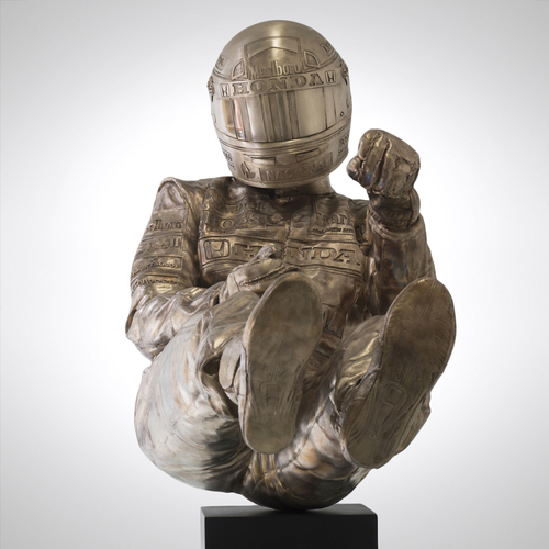 Photo of AYRTON SENNA WIND TUNNEL SIZE GOLD STATUE - PAUL OZ