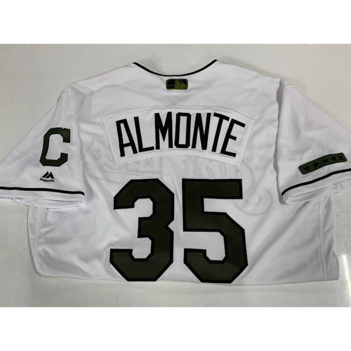 Photo of Abraham Almonte Team Issued 2017 Memorial Day Jersey