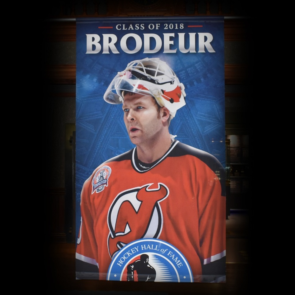 Martin Brodeur Hockey Hall of Fame Class of 2018 Banner (5ft x 9ft) - Limited Edition 1/1