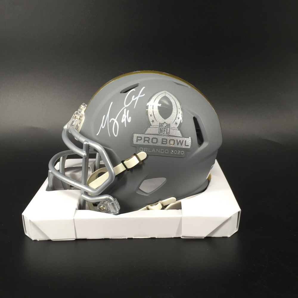 NFL - Ravens Morgan Cox Signed Pro Bowl 2020 Mini Helmet