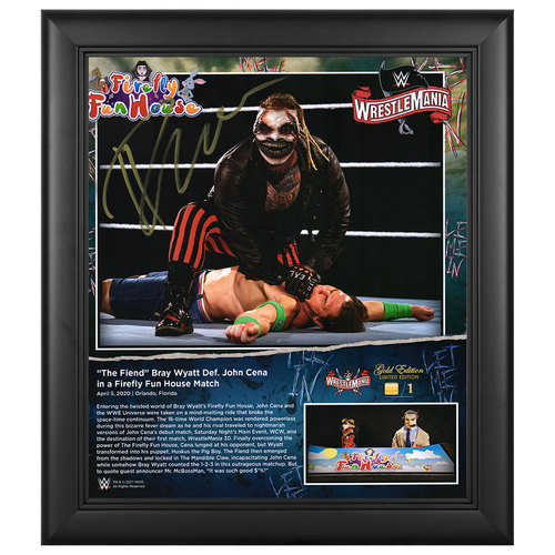 Photo of Bray Wyatt SIGNED WrestleMania 36 WrestleMania Gold Edition Plaque (#1 of 1)