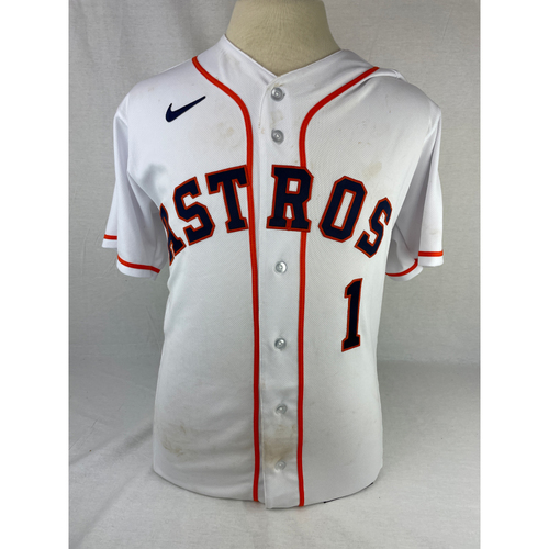 Photo of Carlos Correa 2021 Game-Used Opening Day Jersey - 4/8/2021 vs. OAK - Size 44