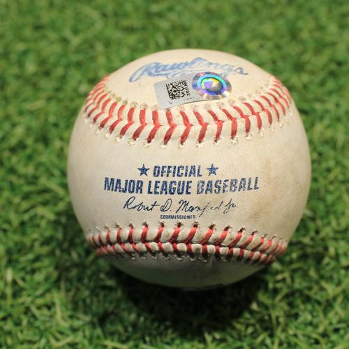 Photo of Game-Used Baseball: Carlos Correa 738th Career Hit (HOU@KC 8/18/21)