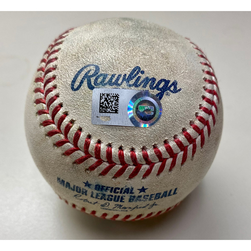 Photo of Game-Used Baseball:  Robbie Grossman Detroit Tigers Walk, Lance McCullers Houston Astros Strikeout, and Nomar Mazara Detroit Tigers RBI Single (MLB AUTHENTICATED)