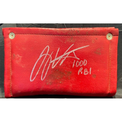 Photo of Joey Votto *Game-Used, Autographed & Inscribed* On-Deck Circle Pine Tar Rag -- Used By Joey Votto During 1,000th Career RBI Game -- SD vs. CIN on 06/30/2021