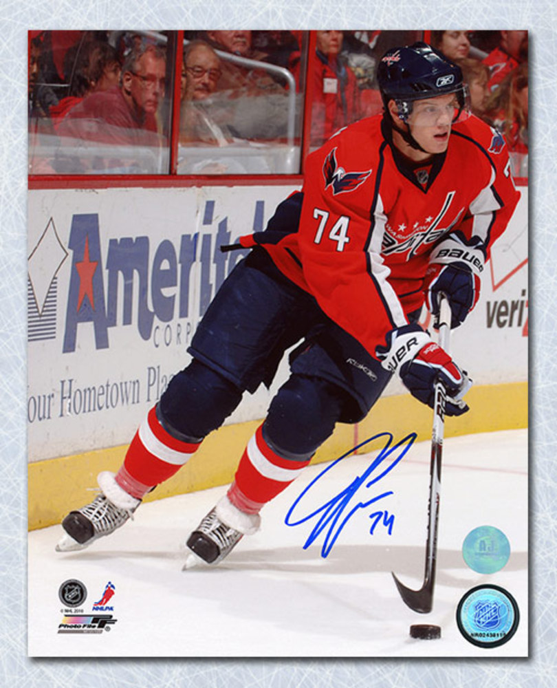 John Carlson Washington Capitals Autographed Action 8x10 Photo