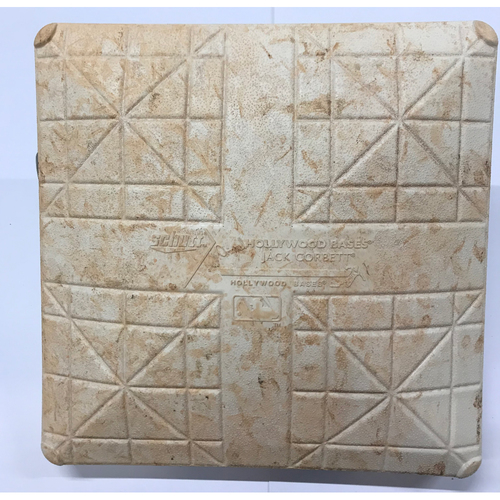 Photo of Indians Clinch 2017 AL Central Back-To-Back Game-Used Base