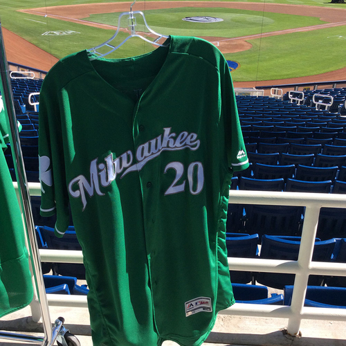 Photo of Wade Miley 2018 Team-Issued St. Patrick's Day Jersey