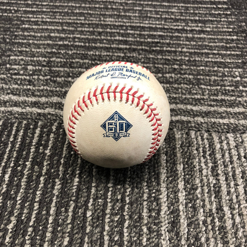 Photo of 2018 San Francisco Giants - Game-Used Baseball - 60th Anniversary - Alen Hanson Singles off Adam Cimber - 6/23/18