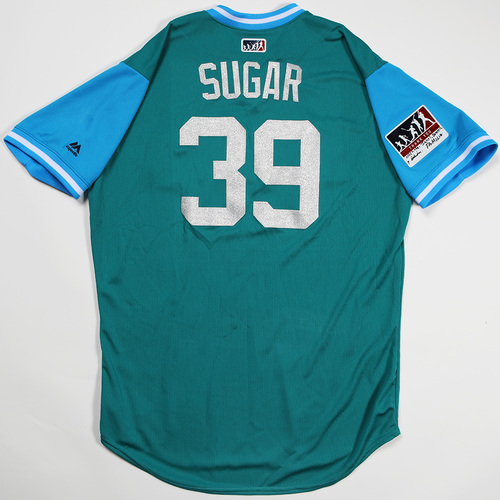 "Photo of Edwin ""Sugar"" Diaz Seattle Mariners Game-Used Players' Weekend Jersey"