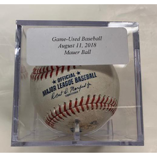 Photo of Game-Used Baseball: Joe Mauer Ball