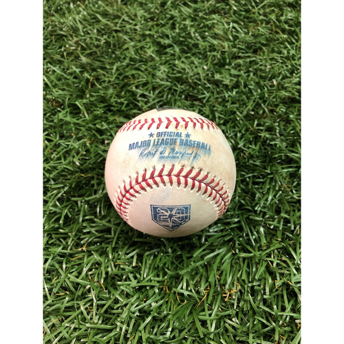 Photo of 20th Anniversary Game Used Baseball: Tommy Pham single off Joe Biagini - Final Game of 2018 Season - September 30, 2018 v TOR