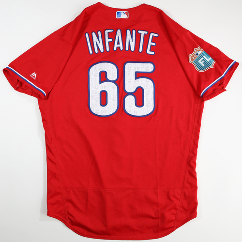 2016  Spring Training -  Game-Used Jersey - Omar Infante (Phillies) - Size 48
