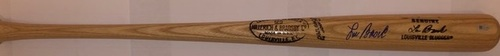 Photo of Lou Brock Autographed Game Model Louisville Slugger Bat