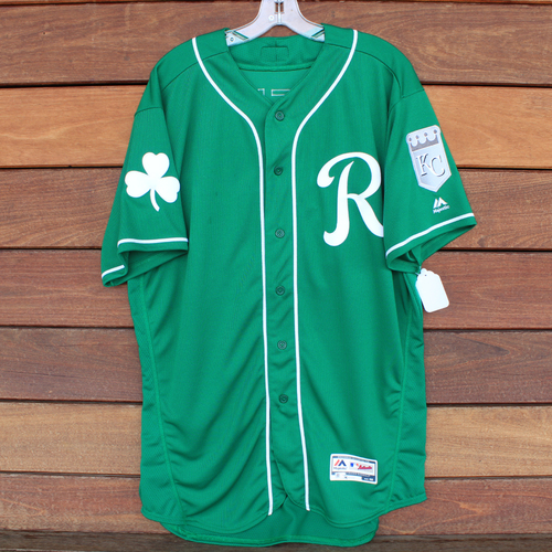 Game-Used Saint Patrick's Day Jersey: Dale Sveum (KC @ SF - 3/17/19) (Size 48)